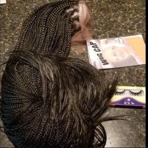 """💘Rumi💘24"""" BLACK BRAIDED LACE FRONT WIG.  🔖NWT"""